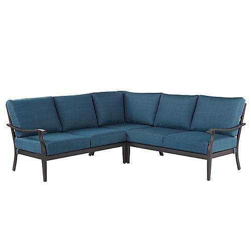 Riley 3-Piece Steel Patio Sectional Seating Set