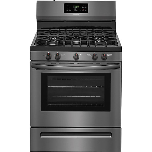 30-inch 5.0 cu.ft. Freestanding Gas Range with Self-Cleaning Oven in Black Stainless Steel