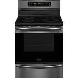 Frigidaire Gallery 30-inch 5.4 cu. ft. Free-Standing Induction Range in Smudge-Proof Black Stainless Steel