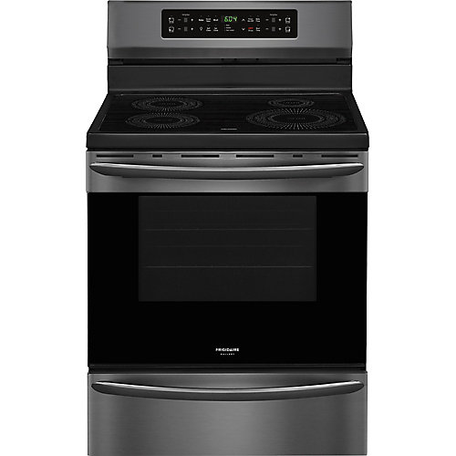 30-inch 5.4 cu. ft. Free-Standing Induction Range in Smudge-Proof Black Stainless Steel