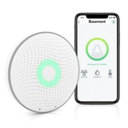 Airthings Wave Smart Radon Detector, Free App, Battery Operated