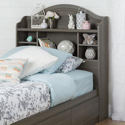South Shore Tête de lit bibliothèque simple (39'') Savannah, Érable cendré