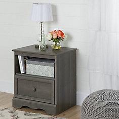 Table de chevet 1 tiroir Savannah, Érable cendré