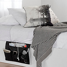 Storit Black Canvas Bedside Storage Caddy
