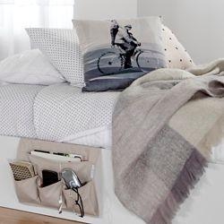 South Shore Pochette de rangement pour lit en toile Storit, Beige