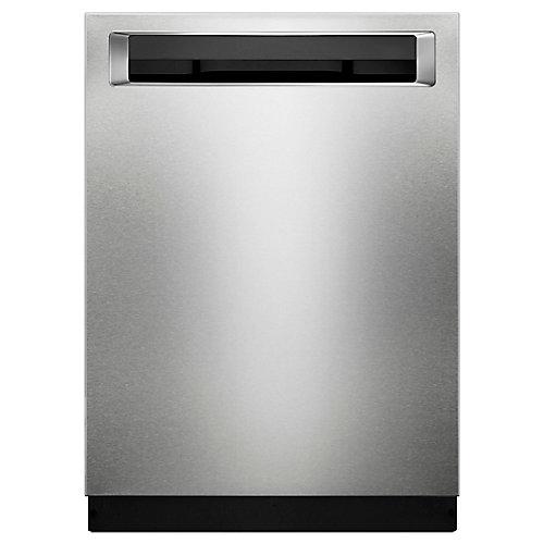 Lave-vaisselle encastré Top Control avec 3ème grille en acier inoxydable PrintShield, 46 dBA