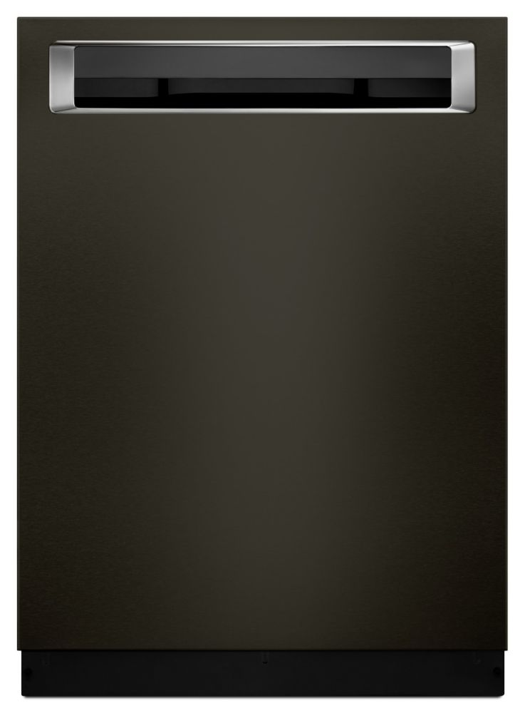 KitchenAid Top Control Built-In Dishwasher with 3rd Rack in Black Stainless Steel KDPE234GBS