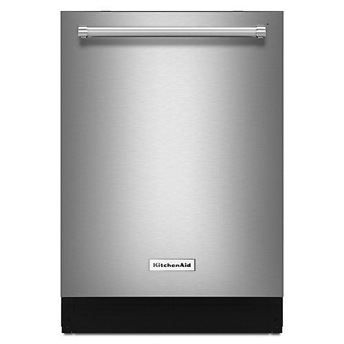 Top Control Lave-vaisselle à cuve haute encastrée en acier inoxydable PrintShield avec cuve en acier inoxydable, 39 dBA