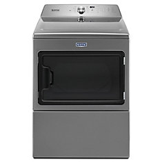 7.4 cu. ft. Large Capacity Electric Dryer with IntelliDry Sensor in White