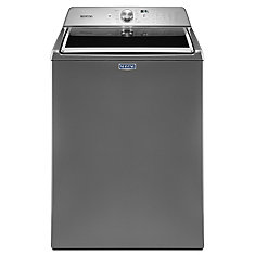 5.4 cu. ft. Top Load Washer with Deep Fill Option in Chrome Shadow