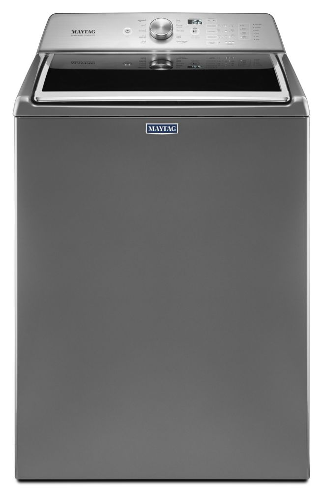 Maytag 5.4 cu.ft. Top Load Washer in Chrome Shadow