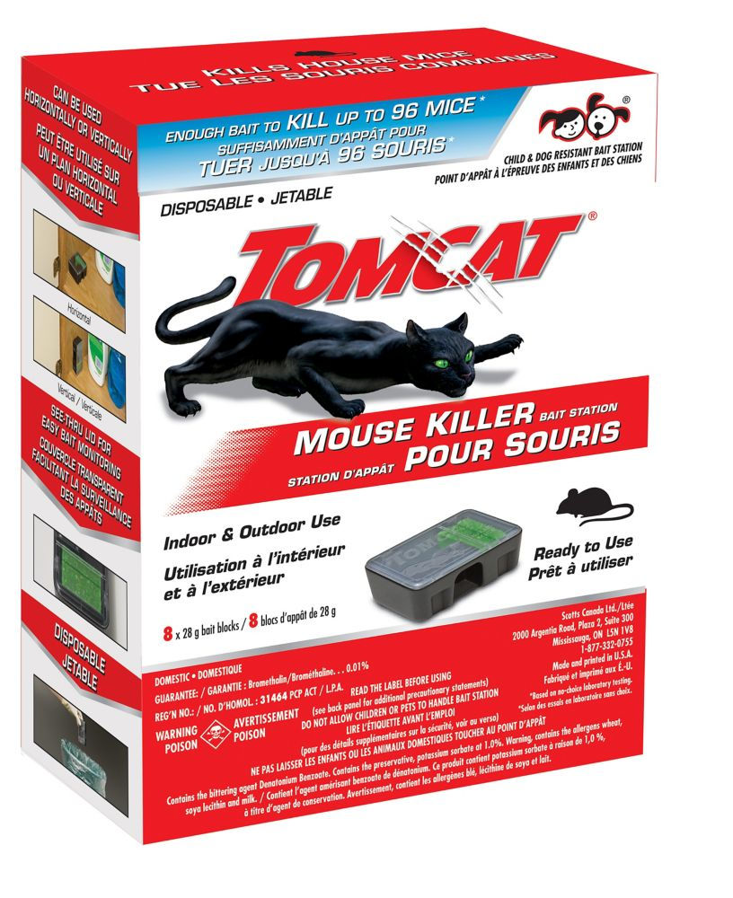 Tom Cat Mouse Bait Station 8 pack