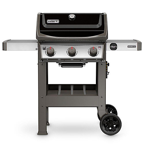 Spirit II E-310 3-Burner Propane BBQ in Black