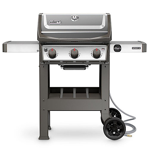 Spirit II S-310 3-Burner Natural Gas BBQ in Stainless Steel