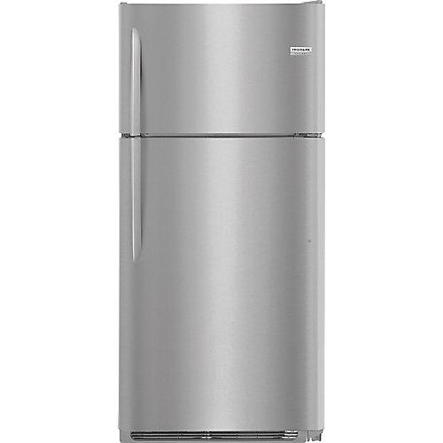 Réfrigérateur supérieur de 30 po W 18 pi3 en acier inoxydable à l'épreuve des salissures