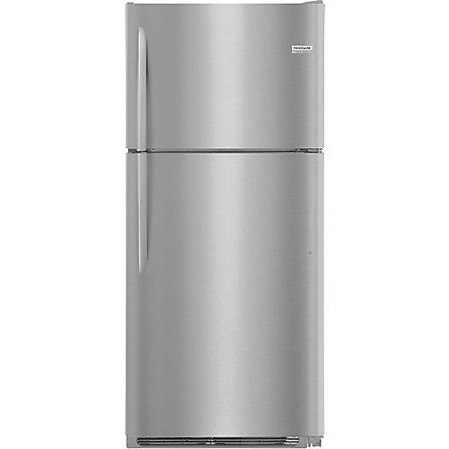 Réfrigérateur supérieur de 30 po W 20 pi3 en acier inoxydable anti-salissure