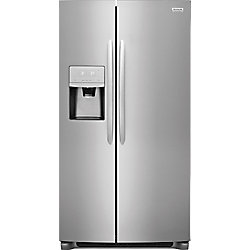 Frigidaire Gallery 25.5 Side By Side Refrigerator in Smudge-Proof Stainless Steel