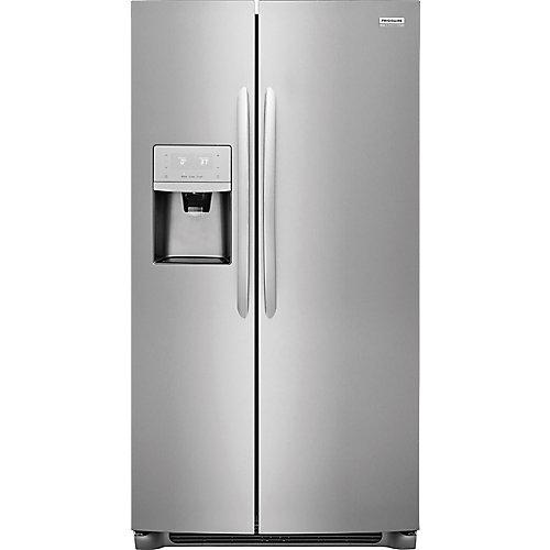 Réfrigérateur en acier inoxydable de 36 po W 25,5 pi3 côte à côte en acier inoxydable