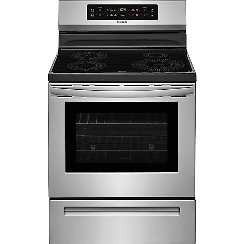 30-inch W 5.3 cu. ft. Freestanding Induction Range with Self-Cleaning in Stainless Steel