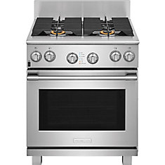 30-inch 6 cu. ft. Dual-Fuel Freestanding Range in Stainless Steel