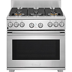 36-inch 4.6 cu. ft. Freestanding Dual Fuel Range in Stainless Steel