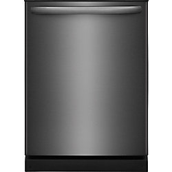 Frigidaire 24-inch Dishwasher in Black Stainless Steel with Polymer Tub and OrbitClean Spray Arm - ENERGY STAR®