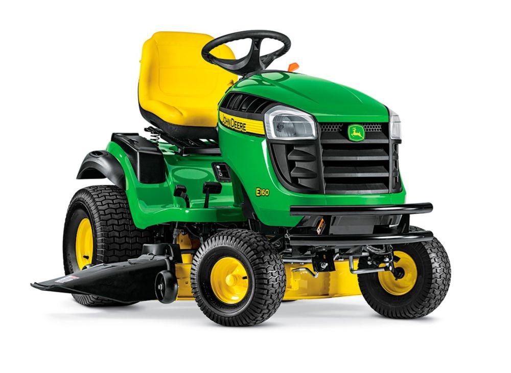John Deere E160 48-inch 24 HP V-Twin ELS Gas Hydrostatic Lawn Tractor