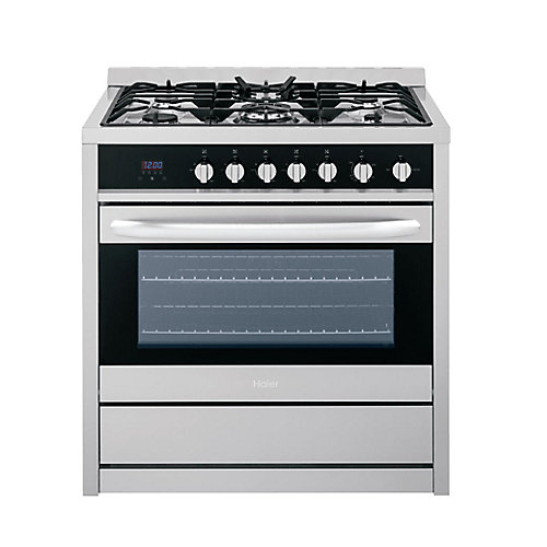36-inch 3.8 cu. ft. Single Oven Gas Range with Convection Oven in Stainless Steel