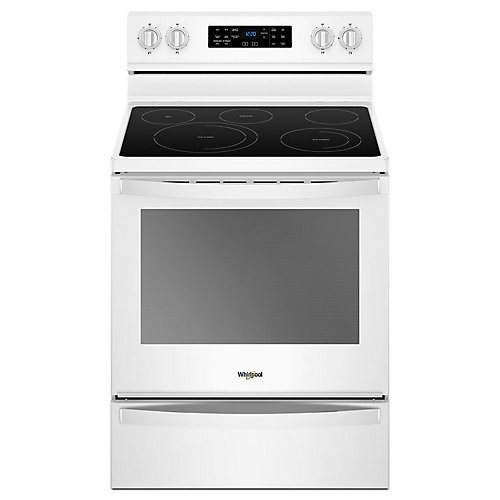 Whirlpool 30 Inch 6 4 Cu Ft Electric Freestanding Range With 5 Elements