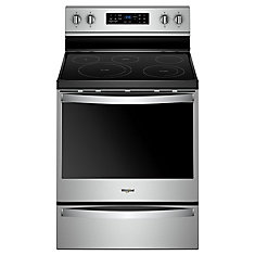 6.4 cu. ft. Electric Range with Self-Cleaning Fan Convection Oven in Fingerprint Resistant Stainless Steel