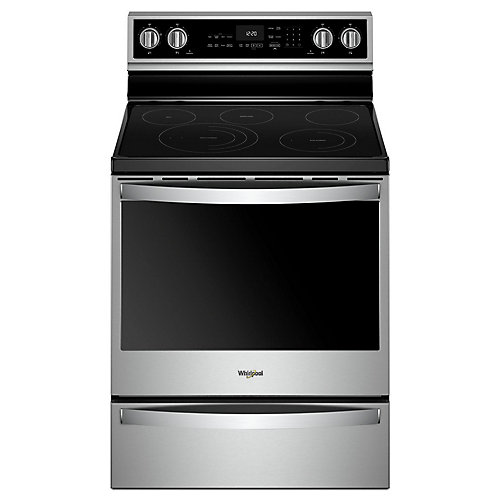 6.4 cu. ft. Smart Electric Range with Self-Cleaning Oven in Fingerprint Resistant Stainless Steel