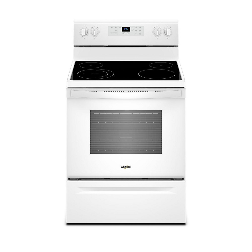 5.3 cu.ft. Electric Range with Self-Cleaning Oven in White