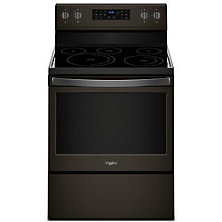 5.3 cu.ft. Electric Range with Self-Cleaning Convection Oven in Fingerprint Resistant Black Stainless Steel