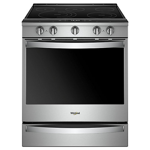 6.4 cu. ft. Smart Slide-In Electric Range with Self-Cleaning Convection Oven in Stainless Steel