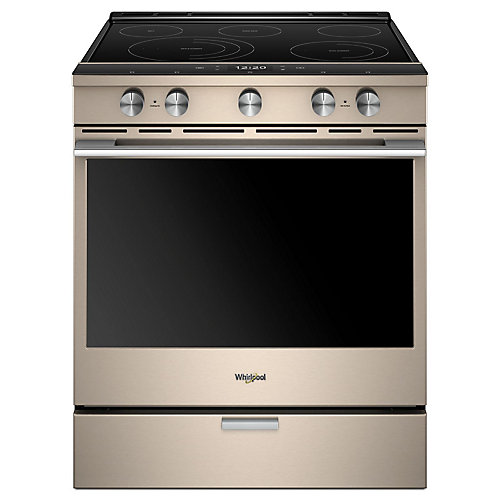 30-inch W 6.4 cu. ft. Smart Slide-In Electric Range with 5 Elements in Sunset Bronze