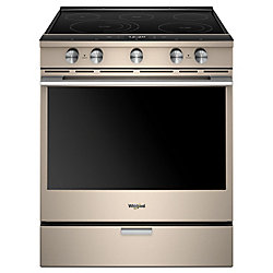 6.4 cu. ft. Smart Slide-In Electric Range with Self-Cleaning Convection Oven in Sunset Bronze