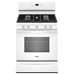 5.0 cu. ft. Gas Range with Fan Convection Oven in White