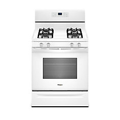 5.0 cu. ft. Gas Range with Adjustable Self-Cleaning Oven in White