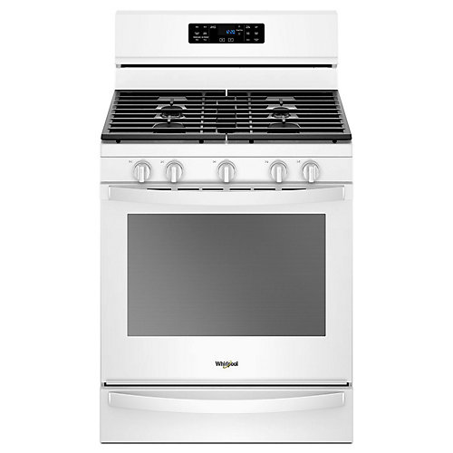 5.8 cu. ft. Gas Range with Self-Cleaning Convection Oven in White