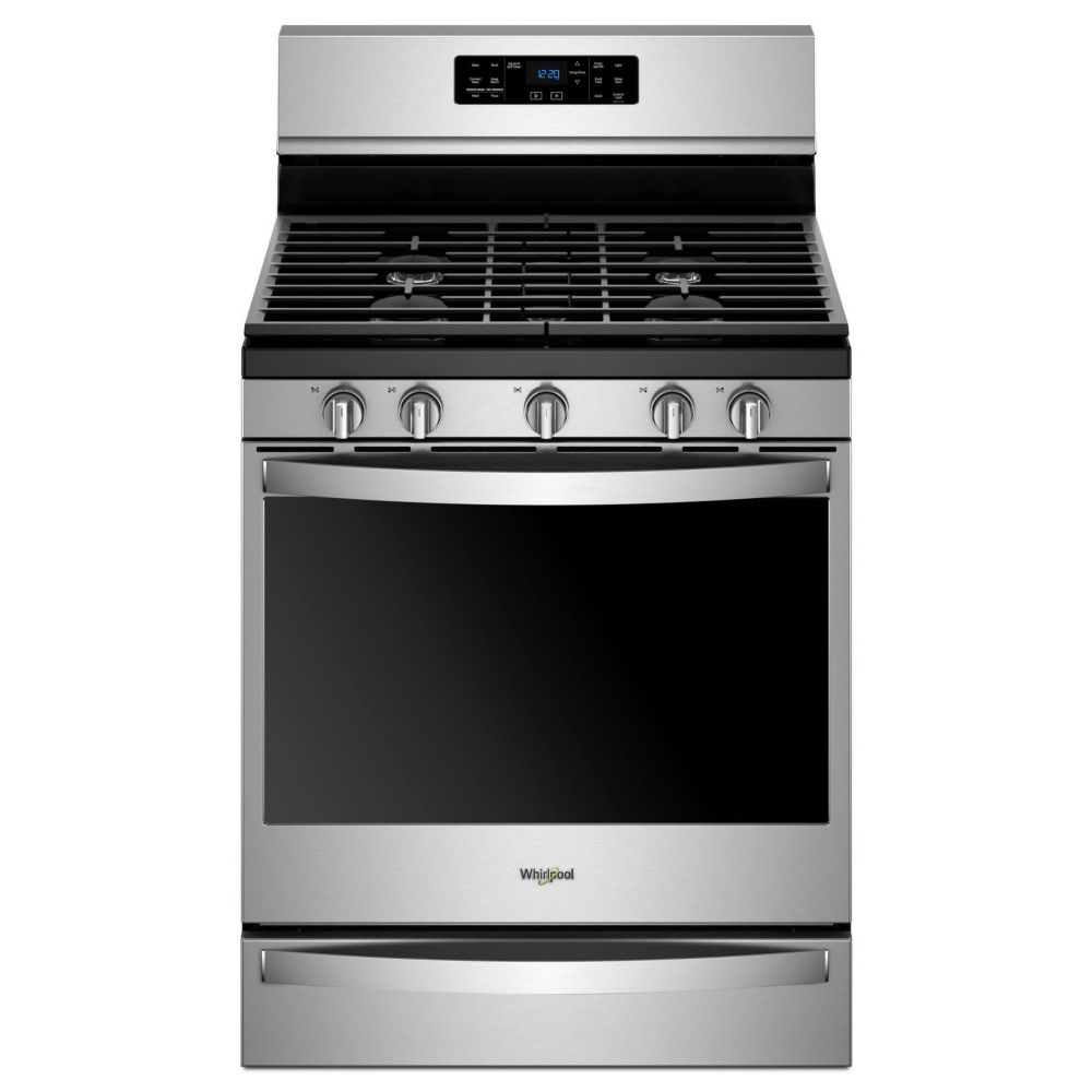 Whirlpool 30-inch 5.8 cu. ft. Gas Freestanding Range with 5 Burners in Stainless Steel
