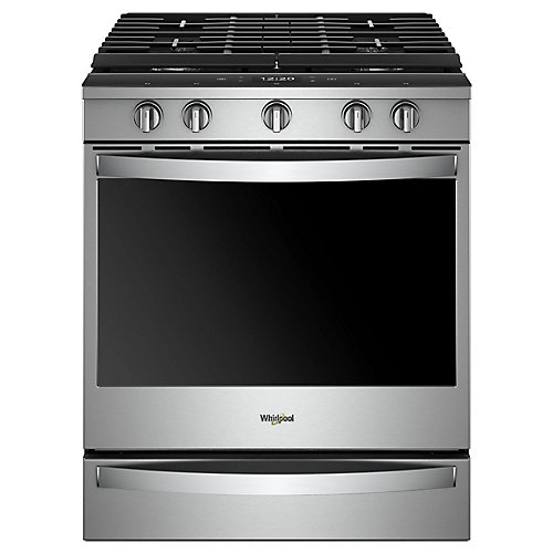 5.8 cu. ft. Smart Slide-In Gas Range with Convection Oven in Fingerprint Resistant Stainless Steel
