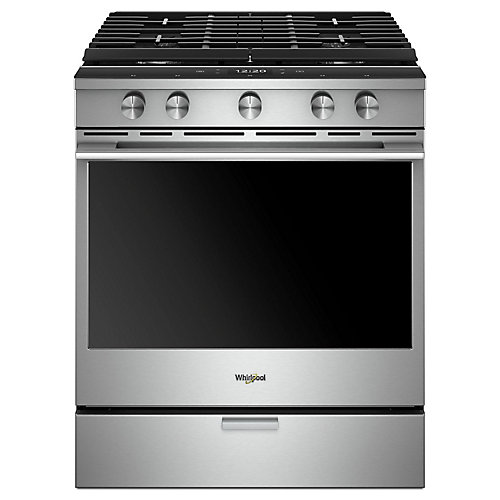 5.8 cu. ft. Smart Gas Range with Self-Cleaning Convection Oven in Fingerprint Resistant Stainless Steel