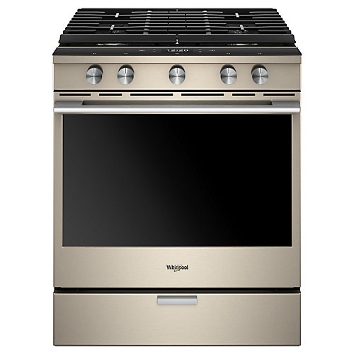 30-inch W 5.8 cu. ft. Smart Slide-In Gas Range with 5 Burners in Sunset Bronze