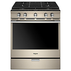 5.8 cu. ft. Smart Gas Range with Self-Cleaning Convection Oven in Sunset Bronze
