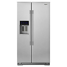 36-inch W 21 cu. ft. Counter Depth Side-by-Side Refrigerator in Stainless Steel
