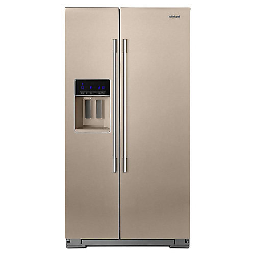 36-inch W 21 cu. ft. Side-by-Side Refrigerator in Sunset Bronze, Counter-Depth