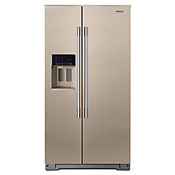 36-inch W 21 cu. ft. Side by Side Refrigerator in Fingerprint Resistant Sunset Bronze, Counter Depth