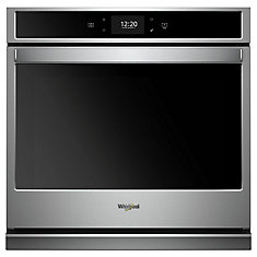 27-inch 4.3 cu. ft. Smart Single Electric Wall Oven with Convection in Stainless Steel
