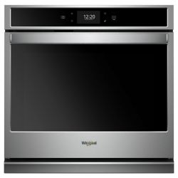 Whirlpool 27-inch 4.3 cu. ft. Smart Single Electric Wall Oven with Convection in Stainless Steel