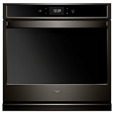 27-inch 4.3 cu. ft. Smart Single Electric Wall Oven with Convection in Fingerprint Resistant Black Stainless Steel